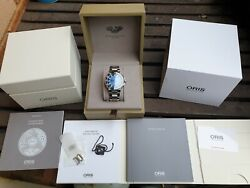 Sold Out Oris Aquis Carysfort Reef Gmt Complication, Stunning Blue Dial