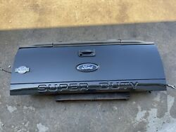 2011-2016 Ford F250 F350 Tailgate Factory Metallic Black W/ Step And Camera Oem