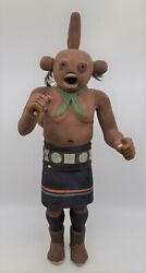 Native American Hopi Carved Wood Hand Painted Kachina Signed By Otto Pentewa