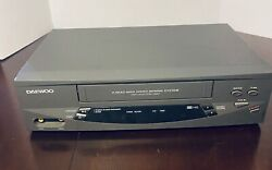 Daewoo Dv-t5dn Video Cassette Recorder Vcr Vhs Player 4 Head - Tested No Remote