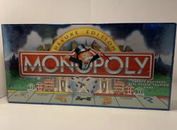 Monopoly Deluxe Edition 1995 11 Gold Tokens Wood Houses And Hotels - New And Sealed