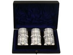 Sterling Silver Numbered Napkin Rings Set Of Six Antique Victorian 1897