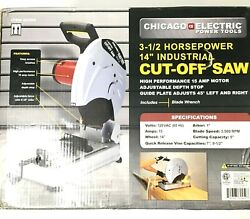 Chicago Electric 14 In. 3.5 Hp Heavy Duty Cut-off Saw 62459 Free Shipping