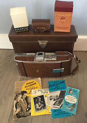 Polaroid Land Camera Model 95a With Case And Accessories Sold As Collectible Only