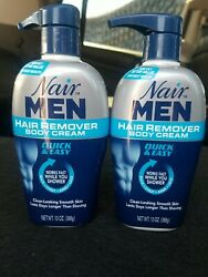 Nair Men Hair Removal Body Cream 13 Oz 368 G Each - 2 Pack - Free Shipping