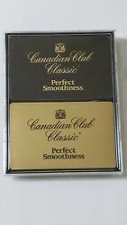 Vintage Canadian Club Whiskey Playing Cards Set Of 2 Decks Sealed New Old Stock