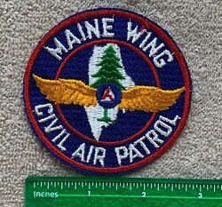 Vintage Maine Wing Civil Air Patrol 1960 Embroidered Uniform Patch