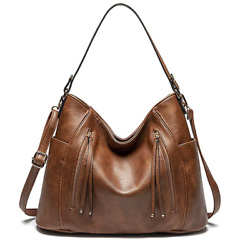 Large Hobo Bags for Women with Tassel Leather Tote Shoulder Handbags with Adjust $24.99