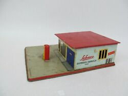 Vintage W Germany Schuco Tin Litho Toy – 1502 Shell Gas Express Service Station