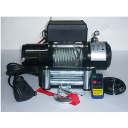 Sto 6800lb Pound Electric Recovery Winch Universal Dc 12v/24v Steel Cable Towing