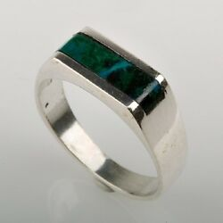 Vintage Sterling Ring Set With Eilat Stone Israel High Quality Jewelry