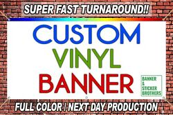 4and039x8and039 Custom Vinyl Banner Full Color High Quality - Free Design Included
