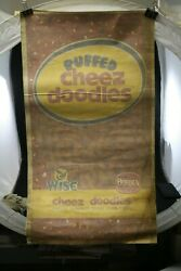 Vtg Wise Potato Chips Cheese Doodles Huge Sign Vinyl Decal 42x25 Rare Nos