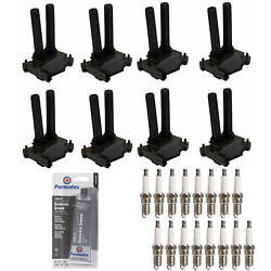 Spark Plug + High Performance Ignition Coil Tune Up Grease For Ram 1500 V8 5.7l