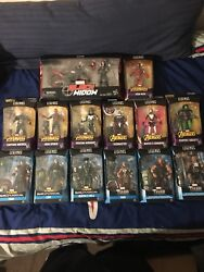 """Marvel Legends Avengers And Thor 6"""" Baf Lot Complete With Black Widow Thanos Hulk"""