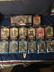 Marvel Legends Avengers And Thor 6andrdquo Baf Lot Complete With Black Widow Thanos Hulk
