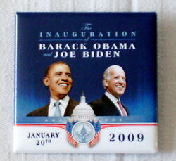Official Inaugural Committee 2009 Barack Obama/joebiden Inauguration Button- New