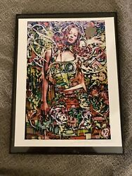 2003 Signed Dated Retna Art Print Early Work Extremely Rare Good Luck Nr