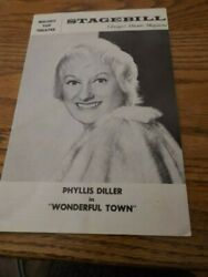 Old Melody Top Theatre Wonderful Town Phyllis Diller Chicago Stagebill Theater