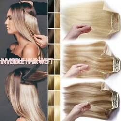 Clearance 16-24 Wire In Human Hair Extensions Remy No Clip In One Piece Remys