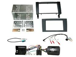 Ctkmb07 Black Double Din Facia Steering Controls Kit For Mercedes Sl R171 04-11