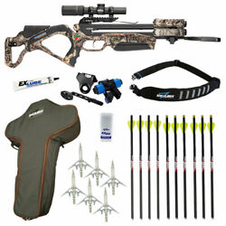 Excalibur Twinstrike Crossbow Hunter Package - New For 2021 - Mossy Oak Buc