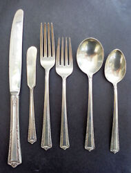 Processional By Fine Arts Silverware Sterling Flatware Set Naken Box 45 Pieces
