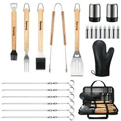 Grill Accessories Set, 23 Pcs Griddle Barbecue Utensils Tools Kit Outdoor Bbq
