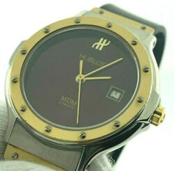 Hublot Mdm 18k Yellow Gold And Stainless Steel Black Rubber Band All Original
