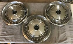 Three 1973 1974 Lincoln Town Car 15 45-slot Type Hubcaps - D3vy-1130-d - 711