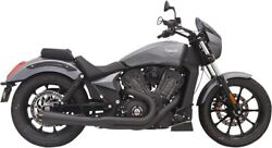Bassani Black Short Road Rage 2-into-1 Exhaust System 6o12rb
