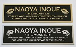 Naoya Inoue Nameplate For Signed Boxing Gloves Trunks Photo Or Case