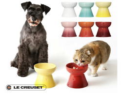 Le Creuset High Stand Pet Bowl Pet Food Dog/cat Stain Resistant Microwave Oven