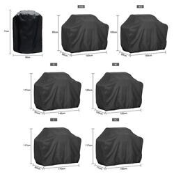 Bbq Grill Cover Black Outdoor Waterproof Barbeque Anti-dust Uv Protection Covers