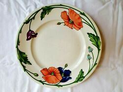 Villeroy And Boch Amapola Dinner Plate 10 1/2 Set Of 4 Floral Germany