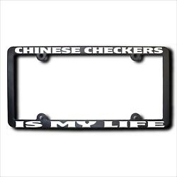 Chinese Checkers My Life Reflective License Frame