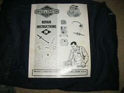 Briggs And Stratton Repair Instructions. Small Engine Manual Ms-4750-101