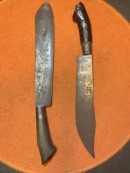 """2 Pre-ww2 Filipino Bolo Machete And Bowie Lew Waldeman Museum Panday """"cp"""" Proofed"""