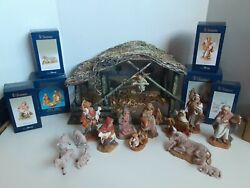 Fontanini Heirloom Nativity From Roman 5 Set With Stable/creche 17 Piece