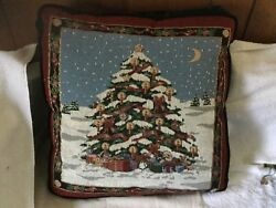 Vintage Christmas tapestry pillows