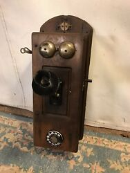 Wall Phone Antique Rotaryandcrank 9x9x24 High Patina.see12pix4detail.make Offer