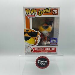 Funko Pop Chester Cheetah With Crunchy Cheetos 78 Hollywood Store Exclusive