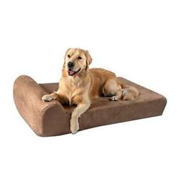 7 Pillow Top Orthopedic Dog Bed For Large And Extra Large 48 X 30 X 7 Khaki