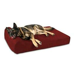 7 Pillow Top Orthopedic Dog Bed For Large Extra Large 52 X 36 X 7 Burgundy