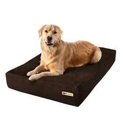 7 Pillow Top Orthopedic Dog Bed For Large And Large 48 X 30 X 7 Chocolate