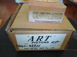 For Toyota 2r Engine A Set Of Art Pistons And Rik Piston Rings Nos+0.5 Oversize