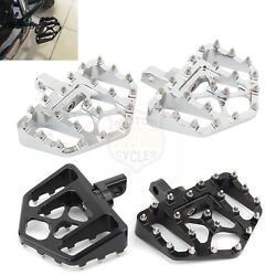 2x Wide Foot Pegs Mx Style Floorboard Pedals For Harley Sportster Xl883 72 11-20