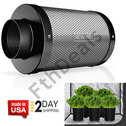Air Carbon Filter 4 With Charcoal For Inline Duct Fan Vent Grow Tent Hydroponic