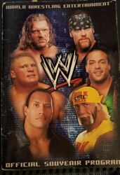 Wwe Official Souvenir Program Signed By Very Many Superstars