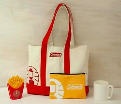 Mcdonald Japan 2021 Limited Lucky Bag Coleman Collaboration 4 Items New White